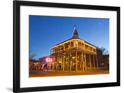 The Weatherford Hotel at Dusk in Historic Downtown Flagstaff, Arizona, USA-Chuck Haney-Framed Photographic Print