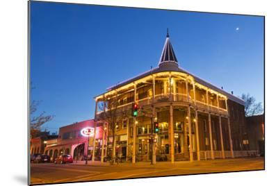 The Weatherford Hotel at Dusk in Historic Downtown Flagstaff, Arizona, USA-Chuck Haney-Mounted Photographic Print