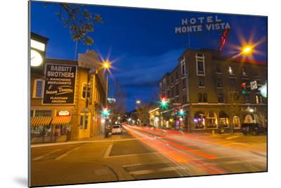 San Francisco Street at Dusk in Historic Downtown Flagstaff, Arizona, USA-Chuck Haney-Mounted Photographic Print