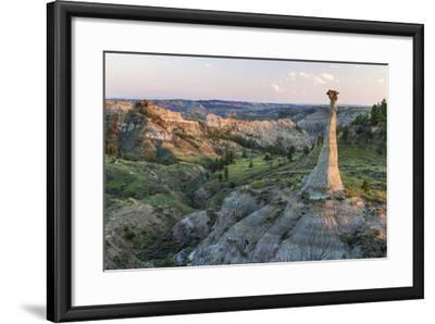 Badlands Rock Formation, Missouri River Breaks National Monument, Montana, USA-Chuck Haney-Framed Photographic Print