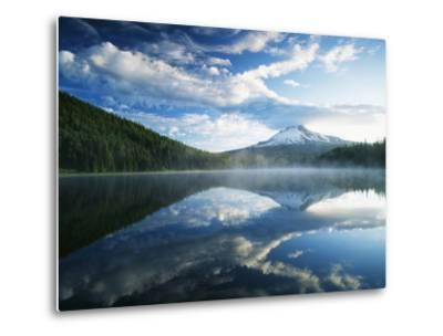 Trillium Lake, Mt Hood National Forest, Mt Hood Wilderness Area, Oregon, USA-Adam Jones-Metal Print