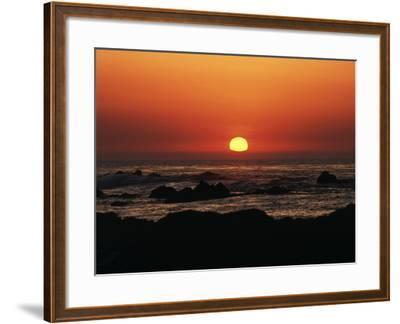 View of Beach at Sunset, Pacific Grove, Monterey Peninsula, California, USA-Stuart Westmorland-Framed Photographic Print
