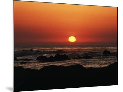 View of Beach at Sunset, Pacific Grove, Monterey Peninsula, California, USA-Stuart Westmorland-Mounted Photographic Print
