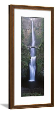 View of Multnomah Falls in Columbia Gorge, Oregon, USA-Walter Bibikow-Framed Premium Photographic Print