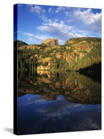 Hallett Peak in Bear Lake, Rocky Mountains National Park, Colorado, USA-Adam Jones-Stretched Canvas Print