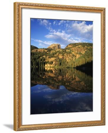 Hallett Peak in Bear Lake, Rocky Mountains National Park, Colorado, USA-Adam Jones-Framed Photographic Print