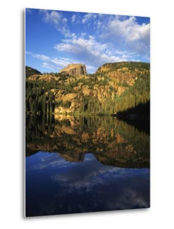 Hallett Peak in Bear Lake, Rocky Mountains National Park, Colorado, USA-Adam Jones-Metal Print