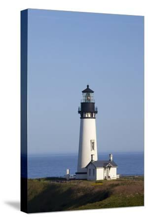 Yaquina Head Lighthouse, 1873, Newport, Oregon, USA-Jamie & Judy Wild-Stretched Canvas Print
