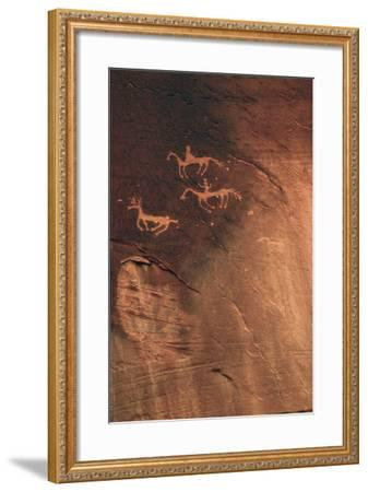 Petroglyph, Canyon De Chelly National Monument, Arizona, USA-Michel Hersen-Framed Photographic Print