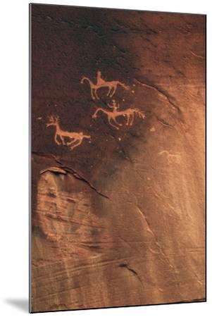 Petroglyph, Canyon De Chelly National Monument, Arizona, USA-Michel Hersen-Mounted Photographic Print