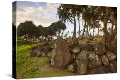 Hikina'akala Heiau, Wailua River State Park, Kauai, Hawaii, USA-Douglas Peebles-Stretched Canvas Print