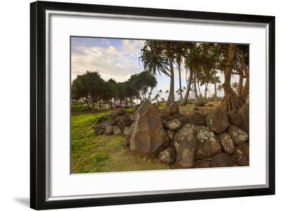 Hikina'akala Heiau, Wailua River State Park, Kauai, Hawaii, USA-Douglas Peebles-Framed Photographic Print