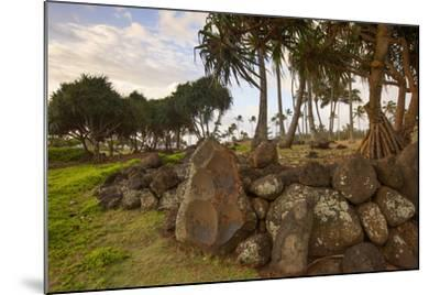Hikina'akala Heiau, Wailua River State Park, Kauai, Hawaii, USA-Douglas Peebles-Mounted Photographic Print