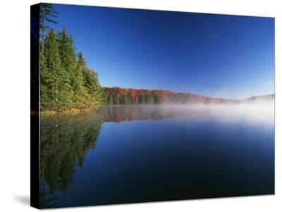 Autumn Trees, Adams Reservoir, Woodford State Park, Vermont, USA-Adam Jones-Stretched Canvas Print