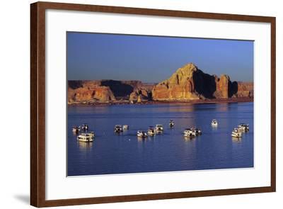 Wahweap Marina, Glen Canyon National Recreation Area, Lake Powell, Page, Arizona-Michel Hersen-Framed Photographic Print