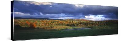 Eden, View of Field, Northeast Kingdom, Vermont, USA-Walter Bibikow-Stretched Canvas Print