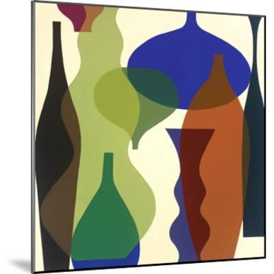 Floating Vases II-Mary Calkins-Mounted Premium Giclee Print