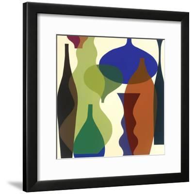 Floating Vases II-Mary Calkins-Framed Premium Giclee Print