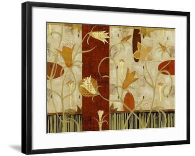 Sunset in the Garden-Mary Calkins-Framed Premium Giclee Print