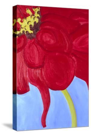 Red Zinnia-Soraya Chemaly-Stretched Canvas Print