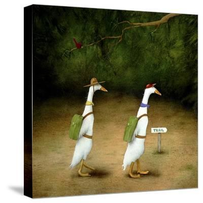 Backquackers-Will Bullas-Stretched Canvas Print
