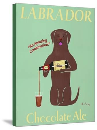 Lab Chocolate Ale-Ken Bailey-Stretched Canvas Print