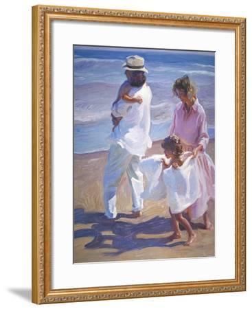 Pacific Walk-John Asaro-Framed Premium Giclee Print