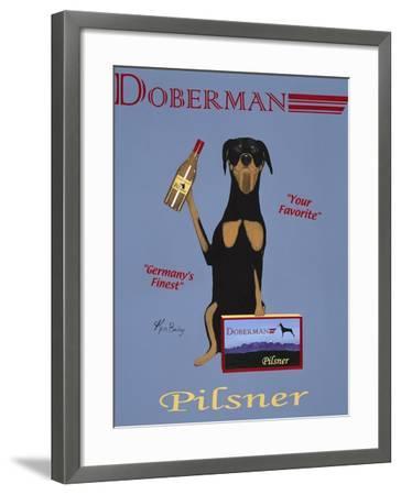 Doberman Pilsner-Ken Bailey-Framed Premium Giclee Print