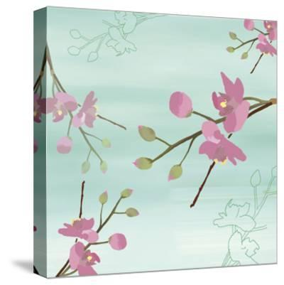 Zen Blossoms 1-Kate Knight-Stretched Canvas Print