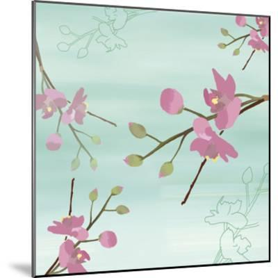 Zen Blossoms 1-Kate Knight-Mounted Premium Giclee Print