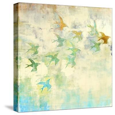 Oiseaux 2-Maeve Harris-Stretched Canvas Print