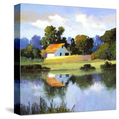 Barns on Greenbrier II-Max Hayslette-Stretched Canvas Print