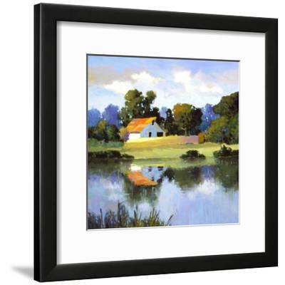 Barns on Greenbrier II-Max Hayslette-Framed Premium Giclee Print