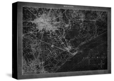Houston Map A-GI ArtLab-Stretched Canvas Print