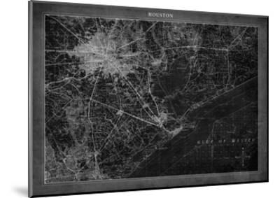 Houston Map A-GI ArtLab-Mounted Premium Giclee Print