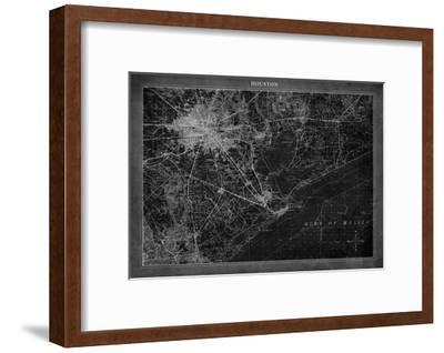 Houston Map A-GI ArtLab-Framed Premium Giclee Print