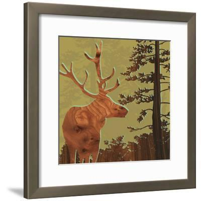 Deer 2-jefdesigns-Framed Premium Giclee Print