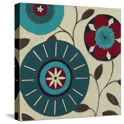 Blue Blossom Fresco IV-Erica J^ Vess-Stretched Canvas Print