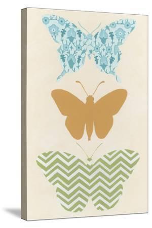 Butterfly Patterns IV-Erica J^ Vess-Stretched Canvas Print
