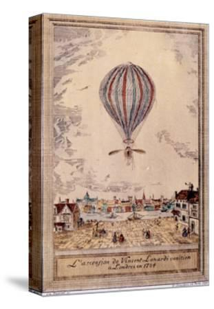 Air and Space: Lundari's Hydrogen Balloon--Stretched Canvas Print