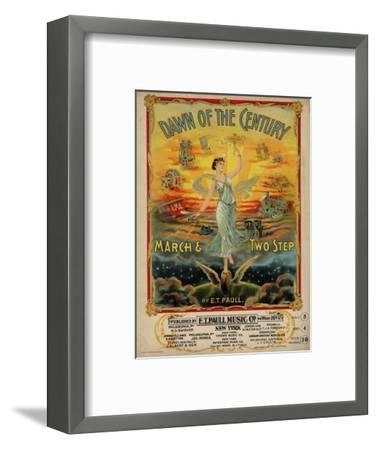 Dawn of the Century March & Two Step, Sam DeVincent Collection, National Museum of American History--Framed Premium Giclee Print