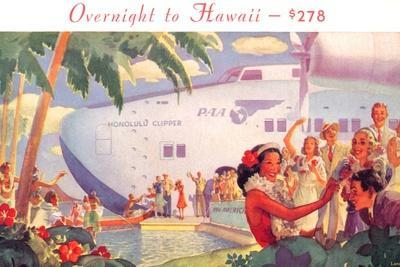 Overnight to Hawaii--Stretched Canvas Print