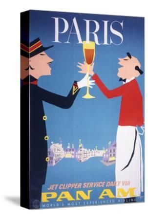 Pan Am - Paris--Stretched Canvas Print