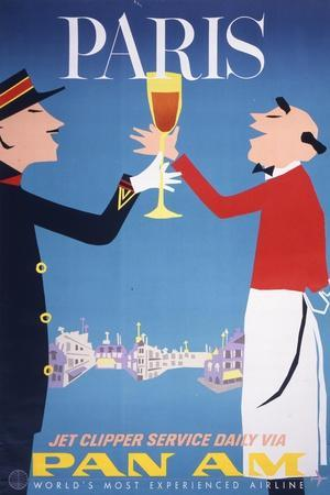 Pan Am - Paris--Framed Premium Giclee Print