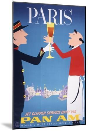 Pan Am - Paris--Mounted Premium Giclee Print
