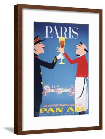 Pan Am - Paris--Framed Premium Giclee Print