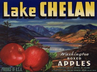 Warshaw Collection of Business Americana Food; Fruit Crate Labels, Lake Chelan Growers Union--Stretched Canvas Print