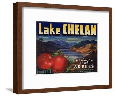 Warshaw Collection of Business Americana Food; Fruit Crate Labels, Lake Chelan Growers Union--Framed Premium Giclee Print