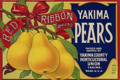 Warshaw Collection of Business Americana Food; Fruit Crate Labels, Yakima Horticultural Union--Stretched Canvas Print