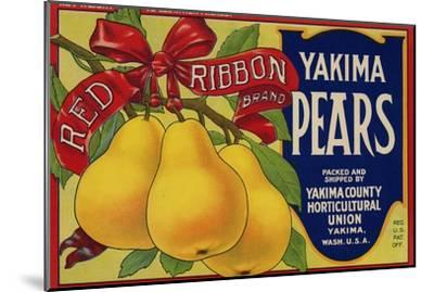 Warshaw Collection of Business Americana Food; Fruit Crate Labels, Yakima Horticultural Union--Mounted Premium Giclee Print